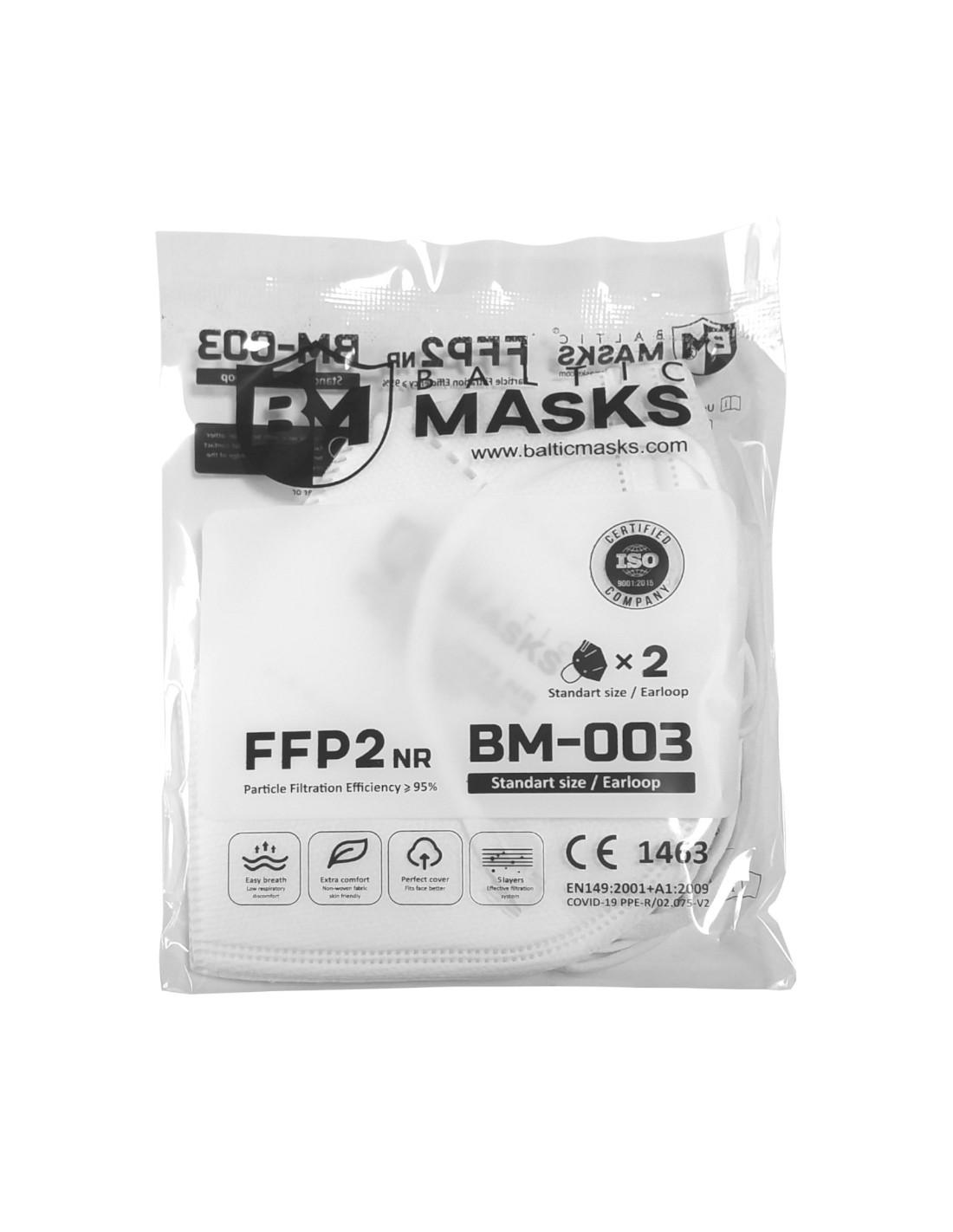 PÓŁMASKI FILTRUJĄCE FFP2 BM-003 2SZTUKI