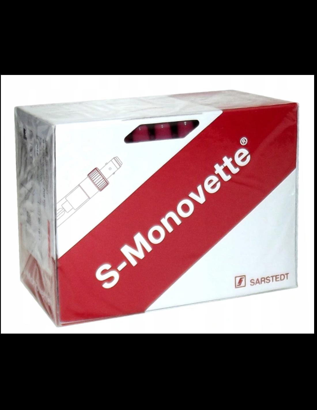 PROBÓWKO-STRZYKAWKI SARSTEDT S-MONOVETTE 7,5 ML EDTA-3K  (CZERWONY KOREK), OP. 50 SZT.